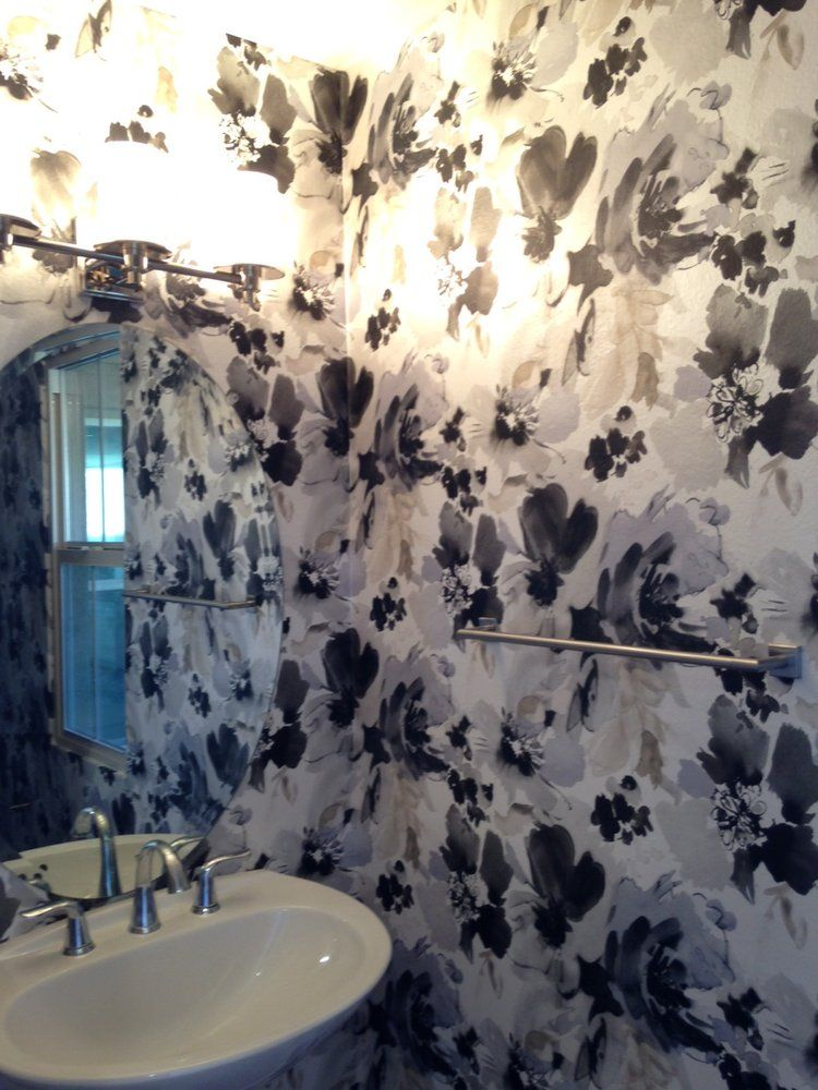 This bold Aquarella wallpaper from Stacy Garcia was installed in ... - Wallpaper Zone
