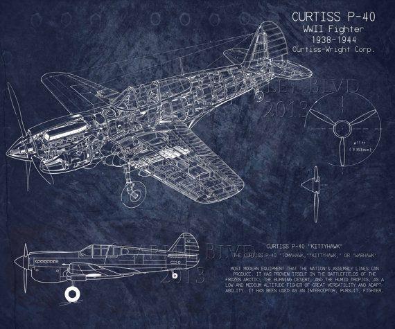 Curtiss p40 wwii airplane blueprint art version b by scarletblvd curtiss p40 wwii airplane blueprint art version b by scarletblvd 4000 dont malvernweather Choice Image
