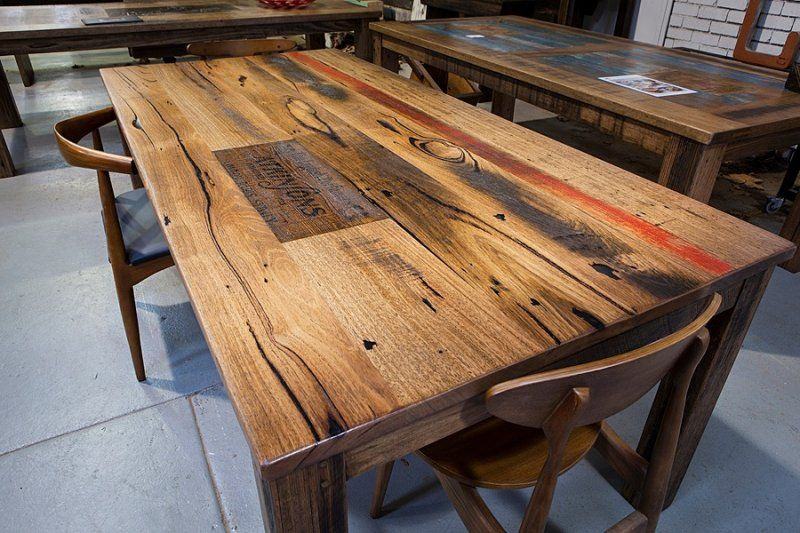 Recycled timber dining tables hand made by Neel Dey - Recycled Timber  Furniture