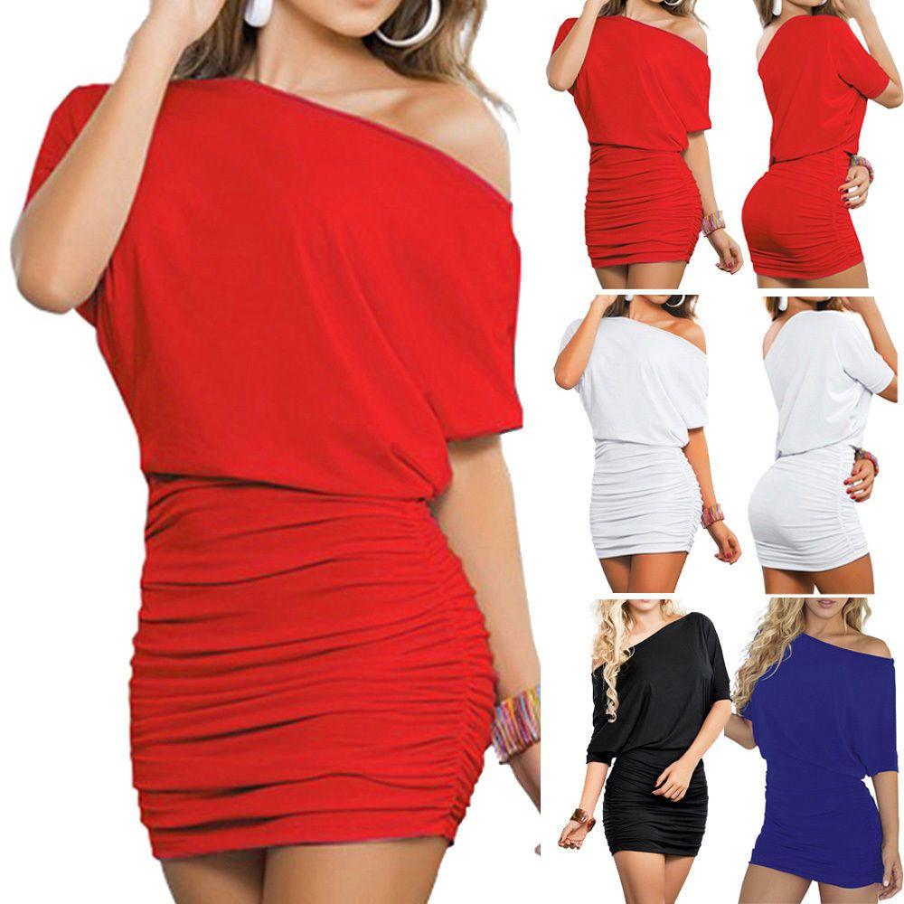 aa2161b495 Mini Vestido mujeres Verano Informal Mangas Cortas ceñido al cuerpo de  Noche Fiesta Cóctel Corto