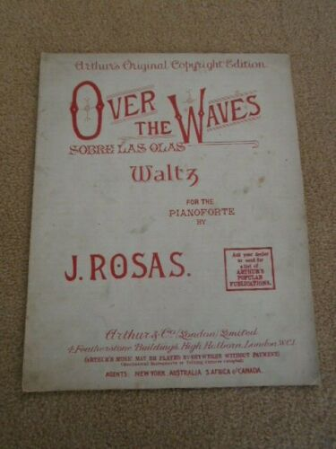Over the Waves Waltz J Rosas Vintage Sheet Music #vintagesheetmusic
