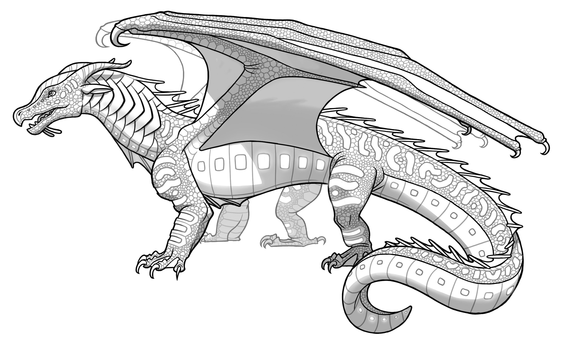 Wings Of Fire Color Edits Complete Requests Original Line Arts Wings Of Fire Dragons Wings Of Fire Dragon Coloring Page