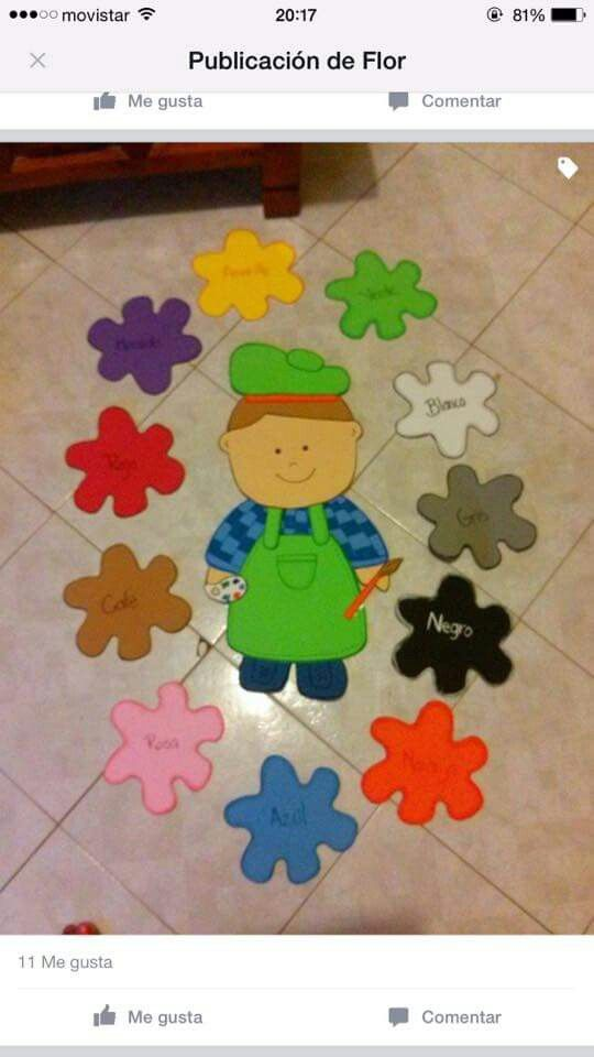 Colores Decoración Aula De Preescolar Decoración Clase