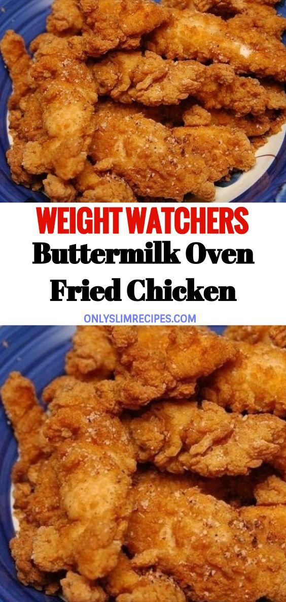 Buttermilk Oven Fried Chicken Chicken Thights Recipes Chicken Recipes Fried Chicken Recipes