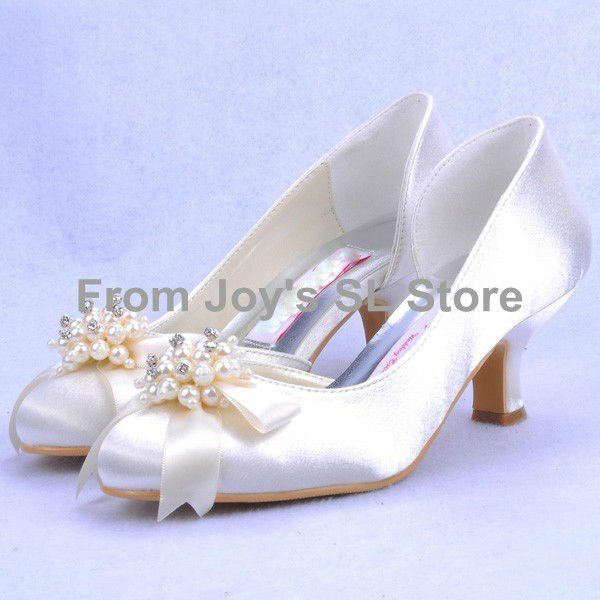 2 inch white pearl flowers wedding bridal shoes custom made evening party  shoes low heels free 5b4e851f6b05