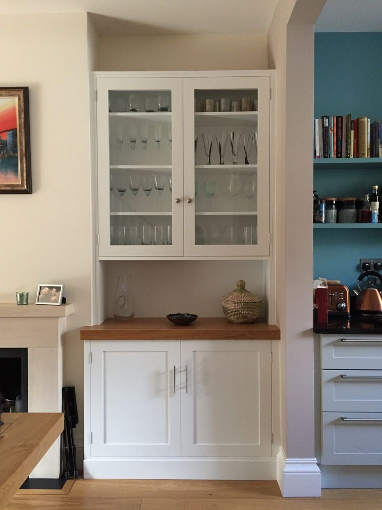 Project Putney Bespoke Alcove Cupboards Shelves Dining Room