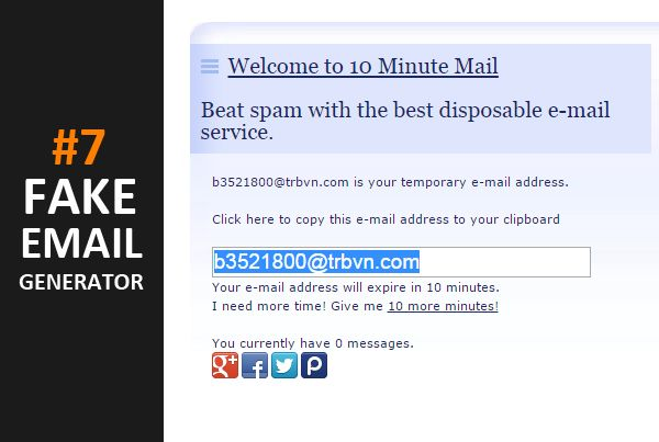 best-free-fake-email-generator-10-minute-mail | 10 Best Fake