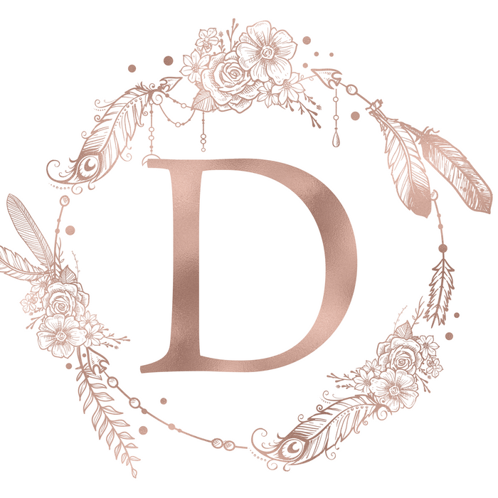 Letter D Rose Gold Pink Initial Monogram Pillow Sham By Nature Magick Standard Set Of 2 Rose Gold Wallpaper Iphone Rose Gold Pink Monogram Wallpaper