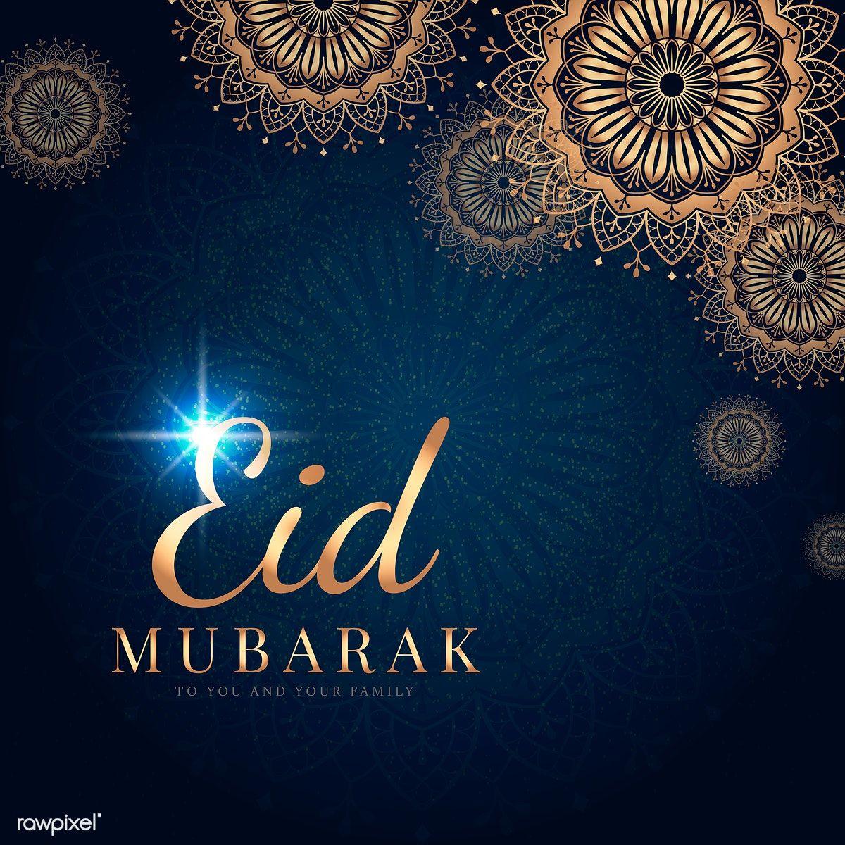 Download Premium Vector Of Eid Mubarak Card With Mandala Pattern Eid Mubarak Card Eid Mubarak Images Eid Mubarak Wishes Images
