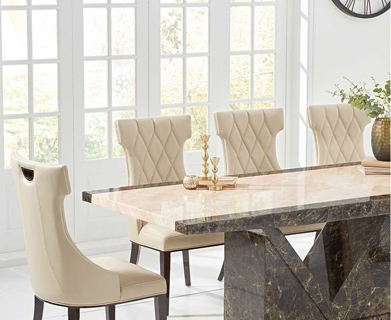 Tenore 180cm Marble Effect Dining Table