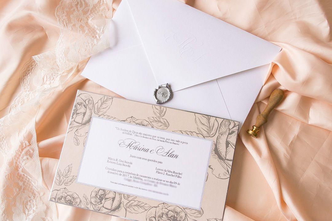 Convite De Casamento Alan Ruschel Chapecoense E Marina Convite
