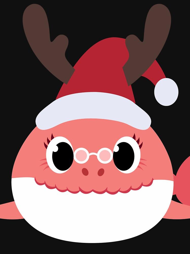 Christmas Grandma Shark Baby Shark Clip Art With Santa Claus Hat Christmas Party Matching Gift Idea T Baby Christmas Gifts Santa Claus Hat Matching Gifts