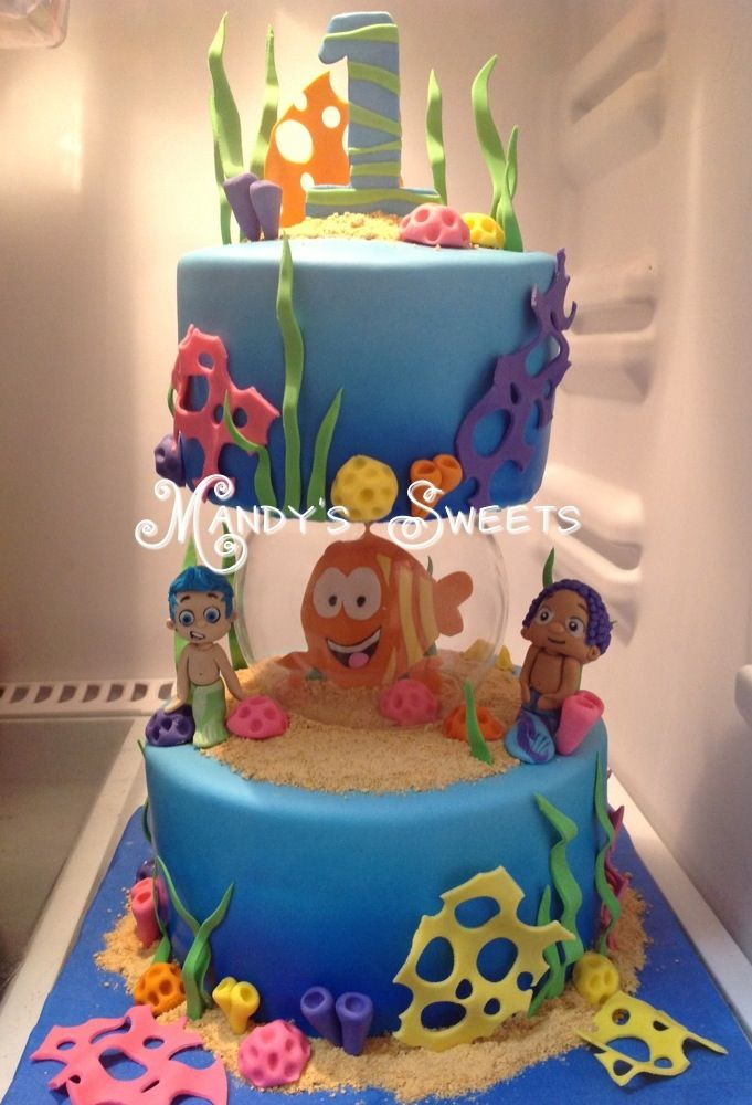 Marvelous Bubble Guppies Cake With Images Bubble Guppies Cake Bubble Birthday Cards Printable Trancafe Filternl