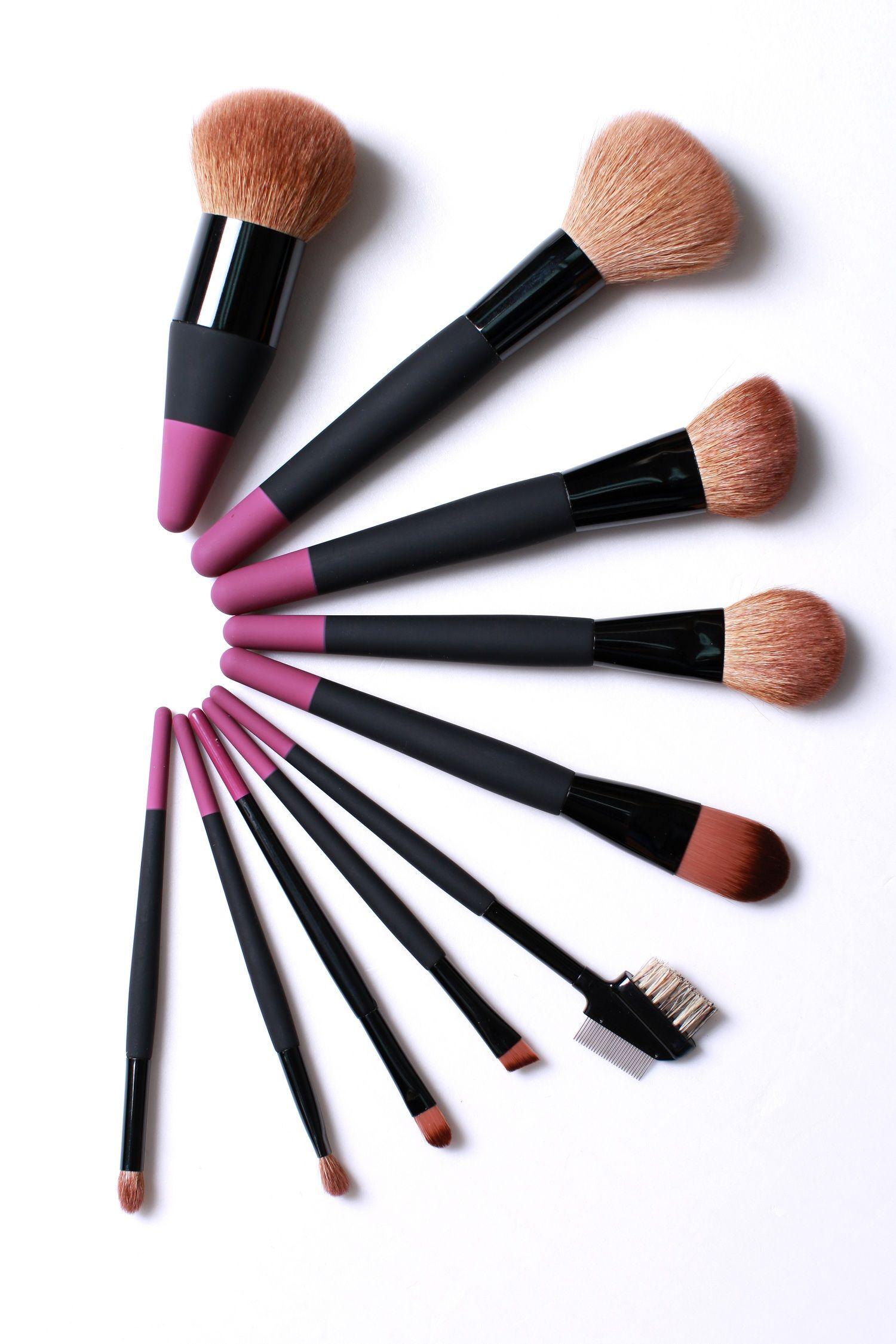 10Pcs Short Handle Makeup brushes Makeup brush set