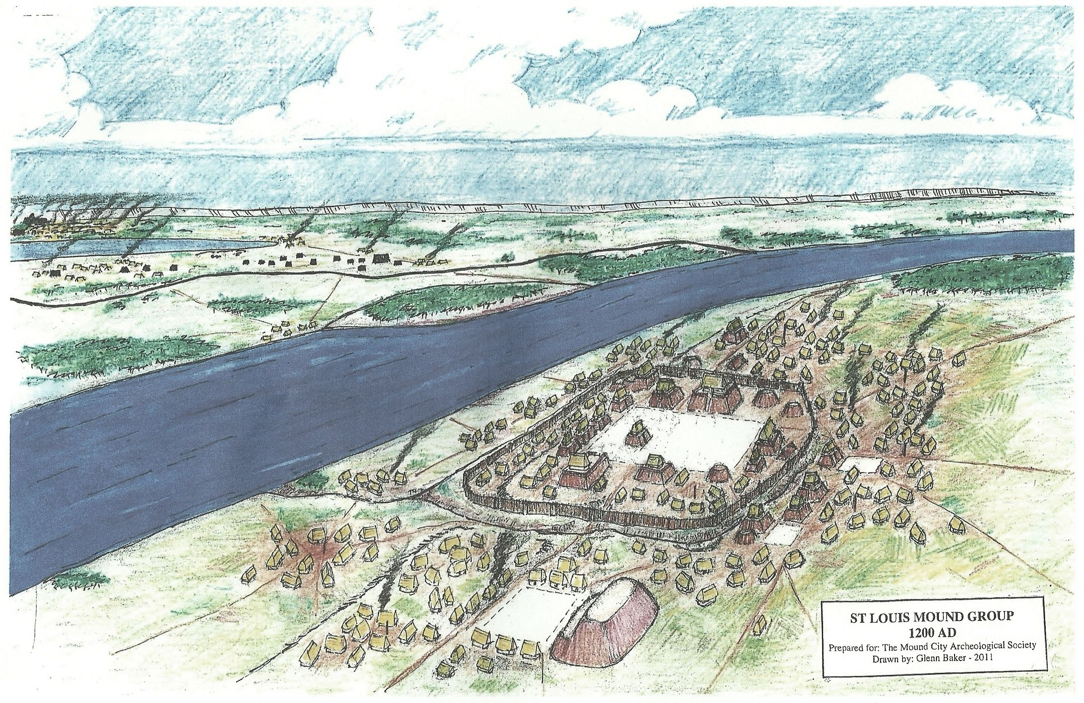 In The 800s Ce The Mississippian Cultures Enter The Area And Begin Building The Mounds That Will Later Nickname Us Mound Ci Mound City Cahokia Historical Sites