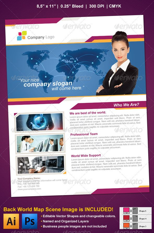 sample of business flyers