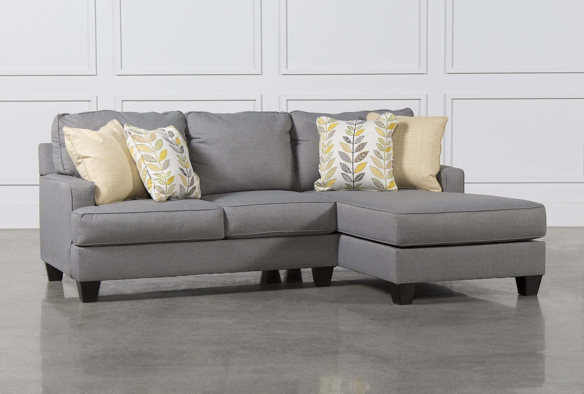 chamberly 2 piece sectional wraf chaise signature
