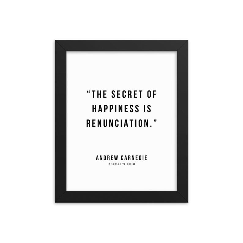 35 |Andrew Carnegie Quotes| Framed Print Poster|21010 | Motivational Inspirational Success Quote Personal Development Business Coach
