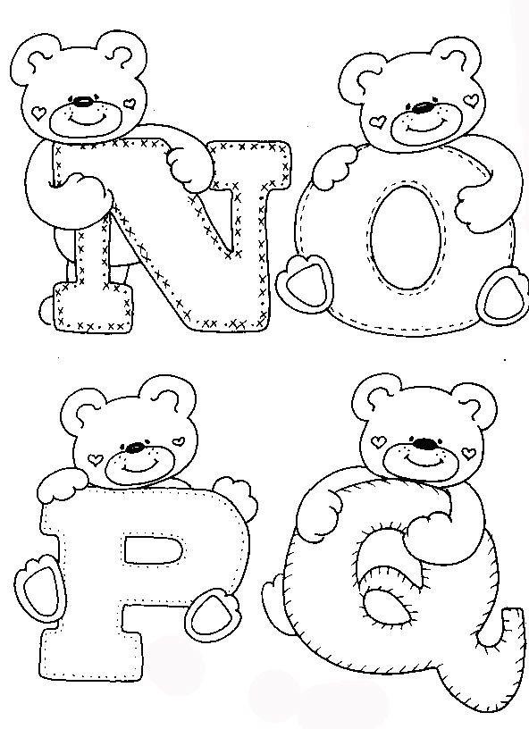 Pin Do A Mariana Matias Em Desenhos Para Pintar: Pintura Em Tecido Passo A Passo: ALFABETOS INFANTIS PARA