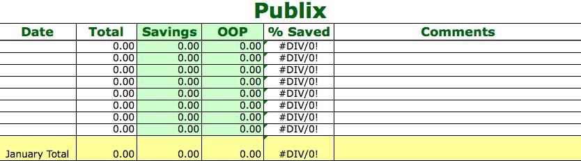 Tracking your Coupon Savings ~ Spreadsheet via SavingTheFamilyMoney.com