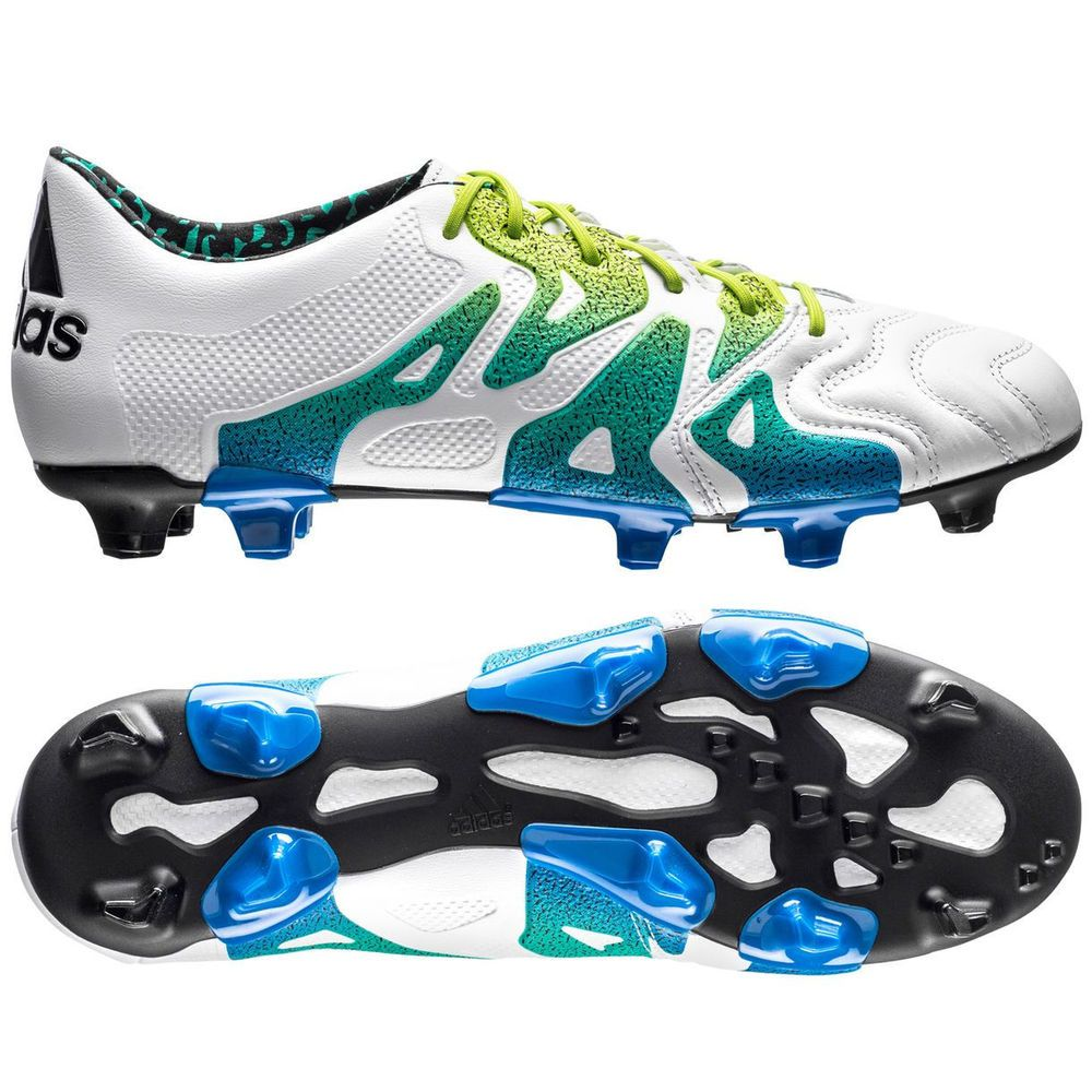 competitive price cb0e9 78a68 Adidas X 15.1 FG AG Soccer Cleats Size Size 11.5 Leather X-Claw White  Futbol (eBay Link)
