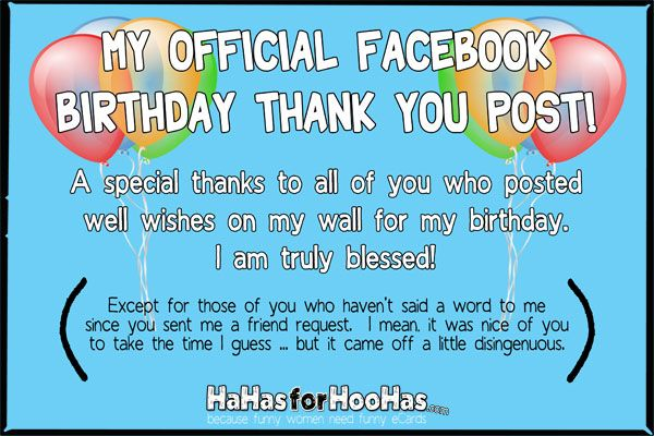 Say Thank You For Your Facebook Birthday Wisheskinda