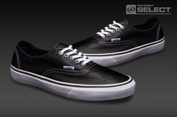 0b1da25aa3f7 Vans Authentic - Mens Select Shoes - (Aged Leather) Black ...