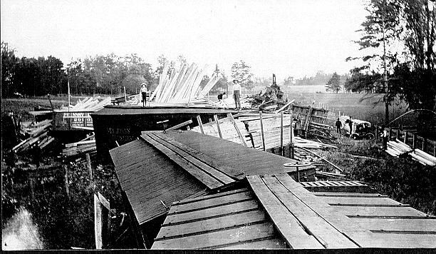 John Dudley Williamson -- Train wreck on Grand Trunk Line between Burlington and Tansley, view 2