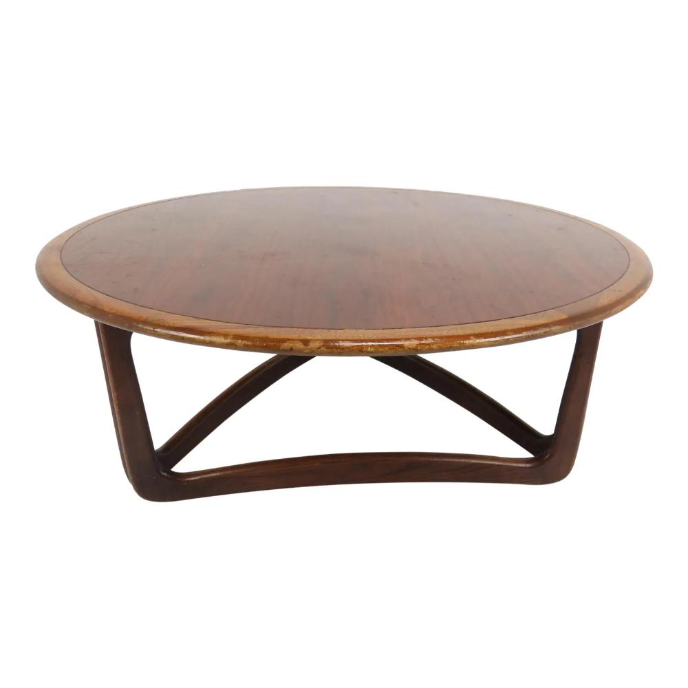Vintage Lane Furniture Walnut Round Coffee Table Chairish Coffee Table Lane Furniture Round Coffee Table Modern [ 1000 x 1000 Pixel ]