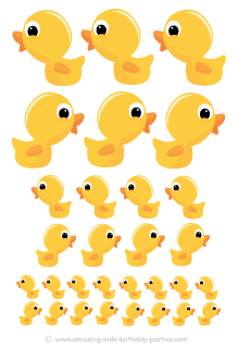 FREE Rubber Ducky Cut Out Decorations