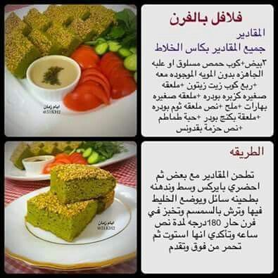 فلافل بالفرن Recipes Food Receipes Healty Food