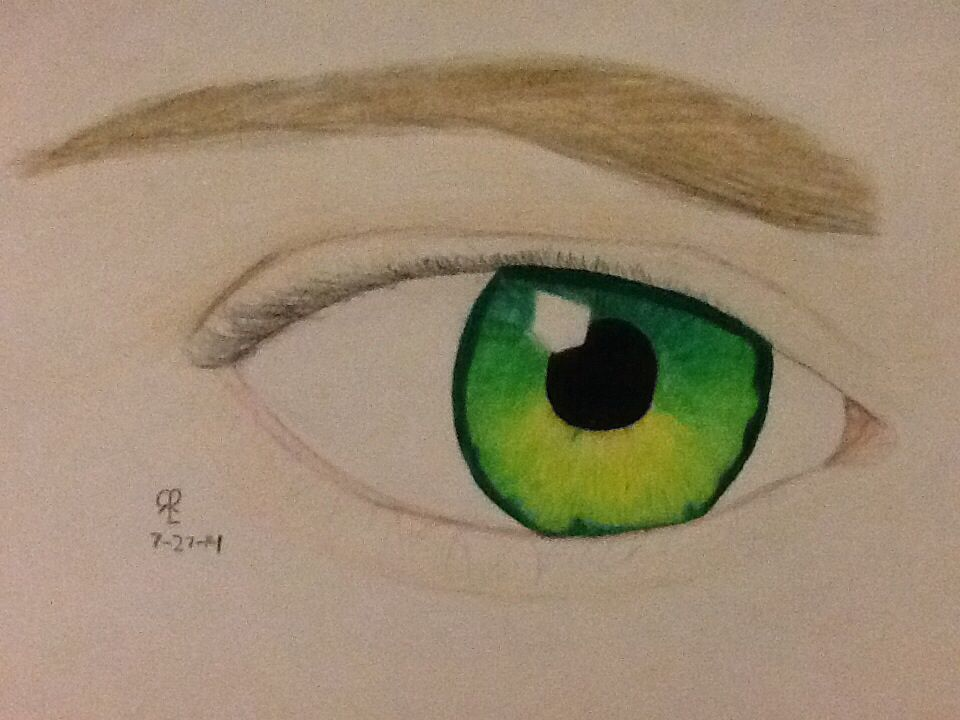 My Colored Pencil Drawing Of Jensen Ackels Fanfiction Green Eyes Colored Pencil Drawing Cool Drawings