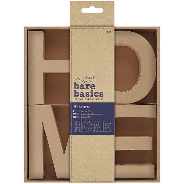 Papermania Bare Basics 3D Letters - HOME