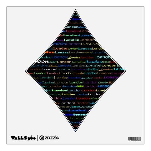 London Text Design I Wall Decal Diamond 2