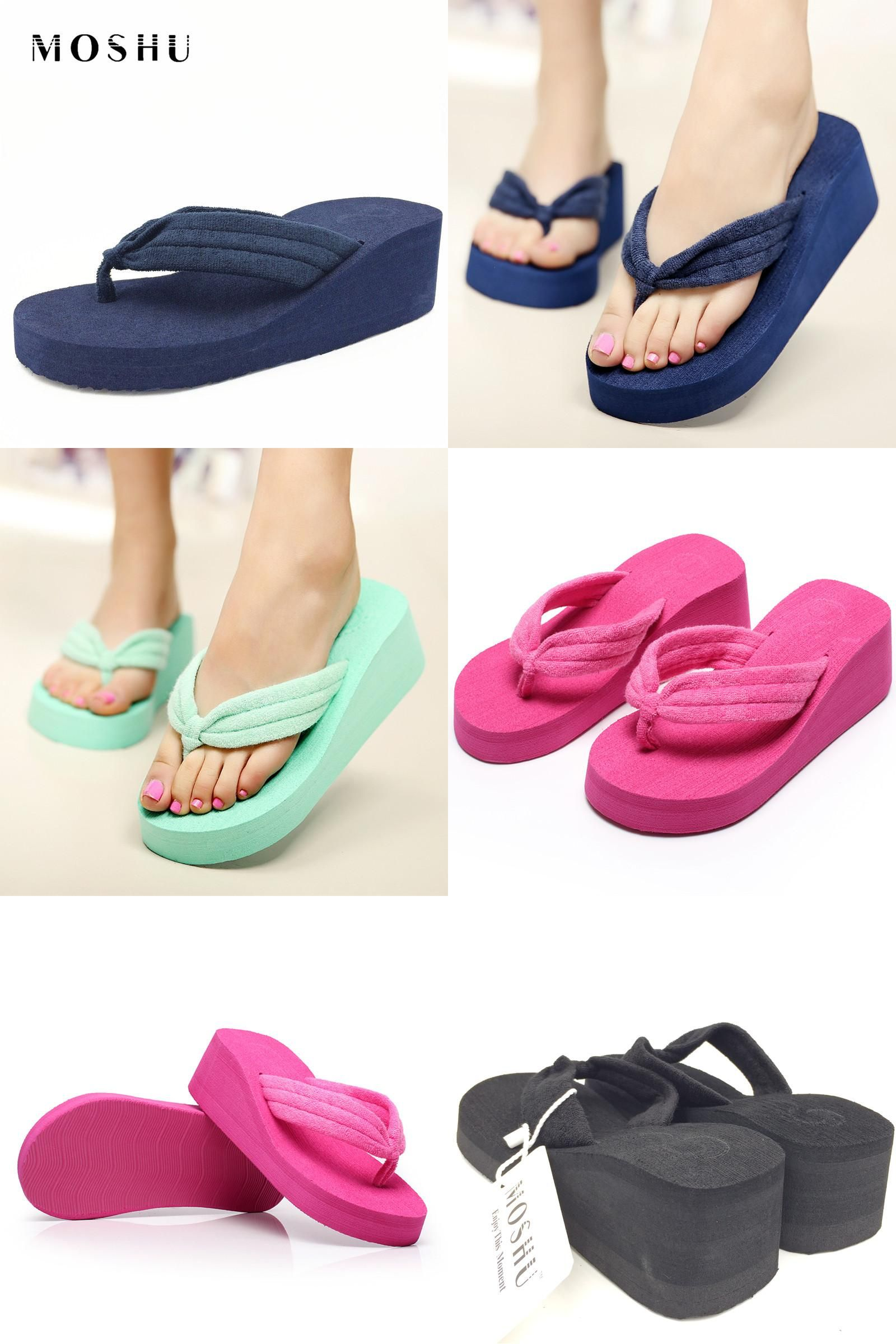 Women Ladies Bow Summer Sandals de Mujer Slippers Indoor Outdoor Flip-Flops Comfort Beach Shoes Dressy