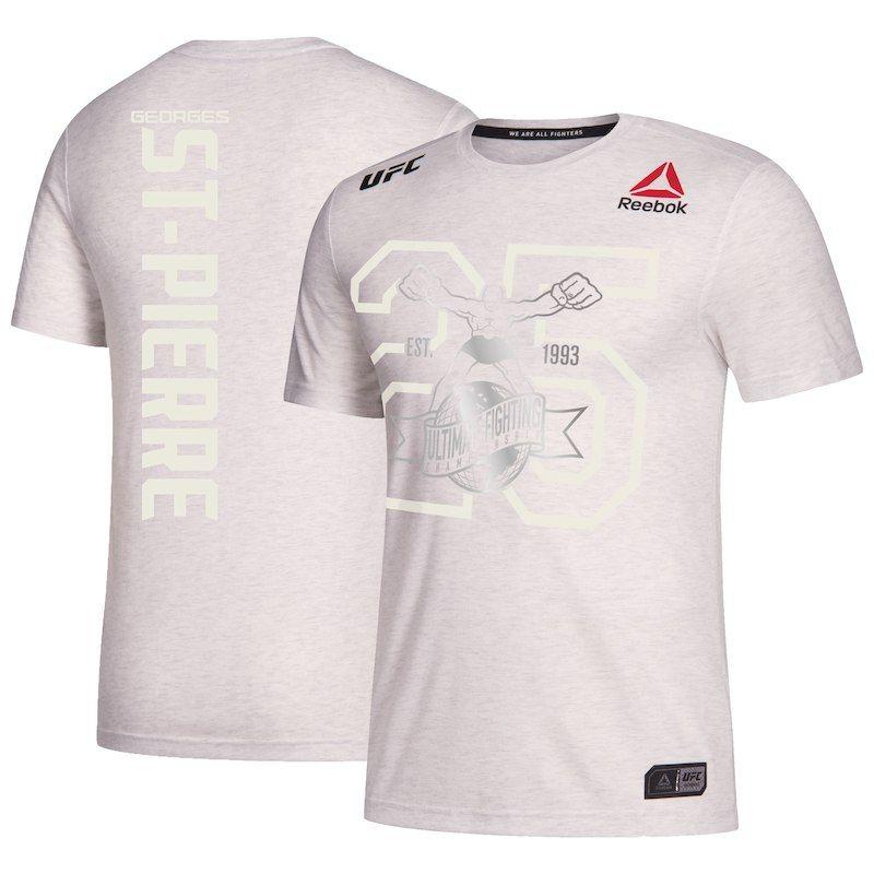 Georges St-Pierre UFC Fight Night Reebok 25th Anniversary Walkout Jersey –  Black 4265a9d163996