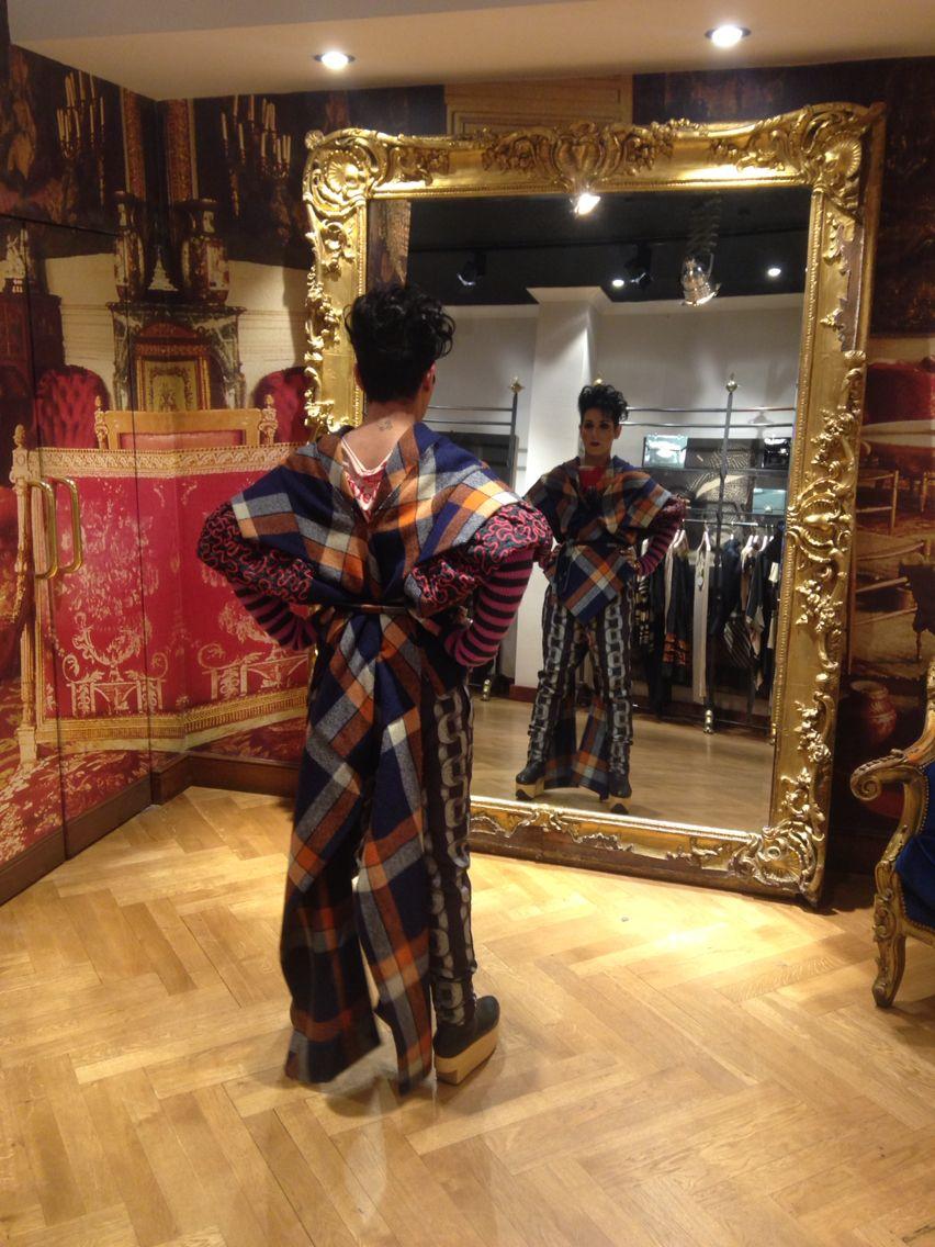 In my vivienne Westwood gold label Harris tweed tartan
