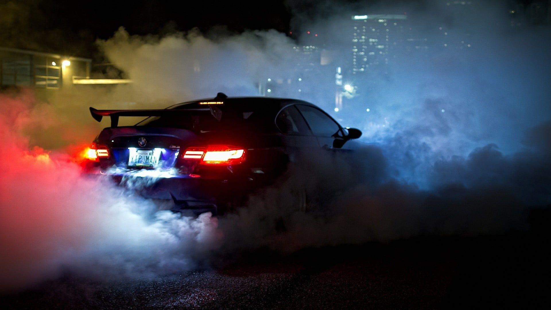 Black Bmw Car Car Bmw M3 Bmw Race Cars Racing Smoke Bmw M3 Gtr 1080p Wallpaper Hdwallpaper Desktop Bmw Wallpapers Black Bmw Bmw M3