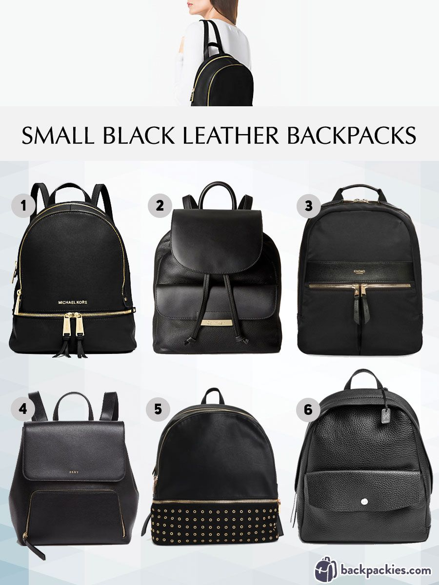 6 Small Black Leather Backpacks We Love - 2018 Must Haves | Black ...