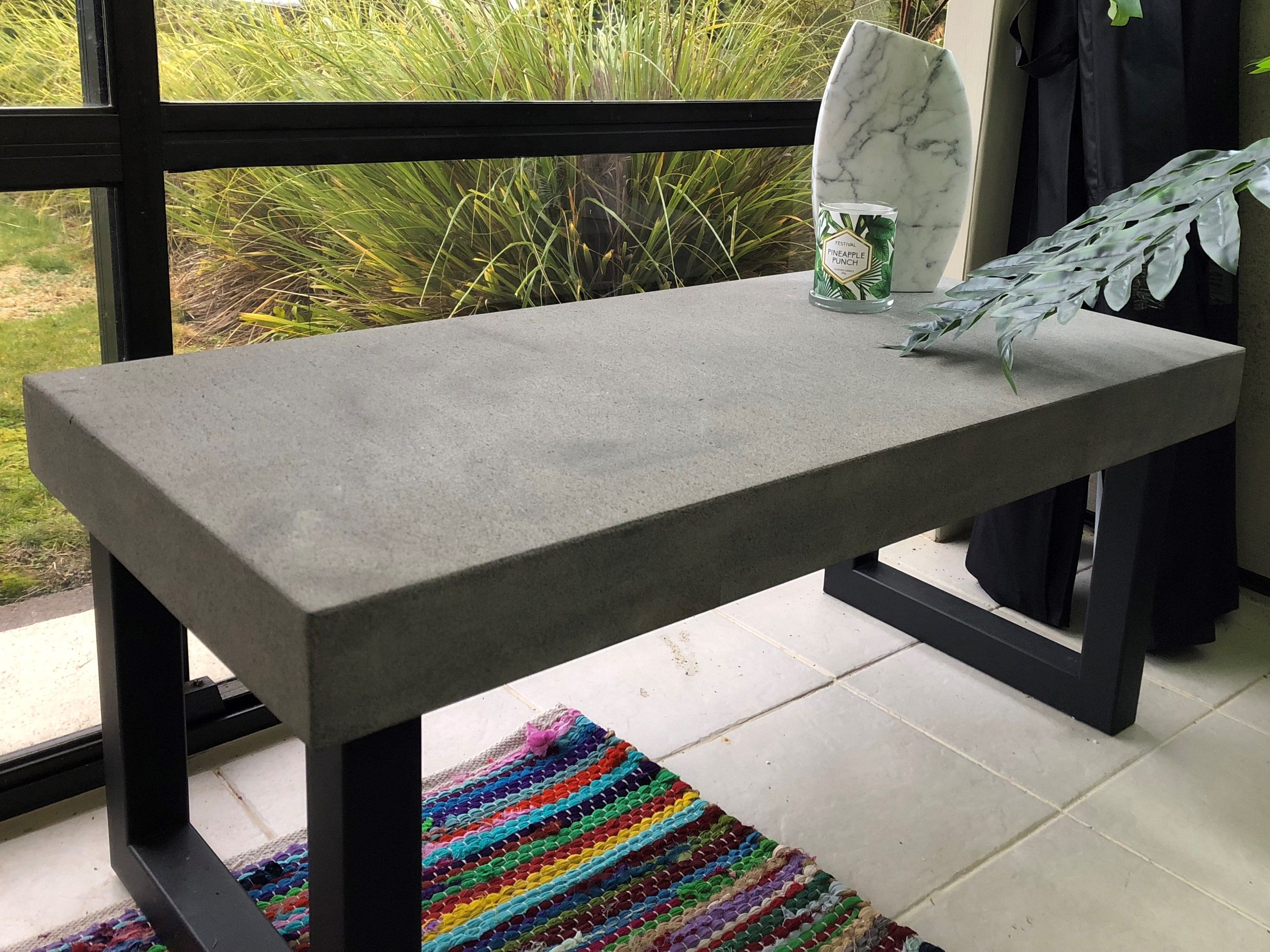 Bluestone (sawn finish) coffee table Custom order stone top