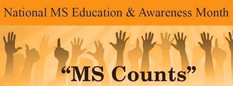 March is National MS Education and Awareness Month   #multiplesclerosisawareness #msmonth #msawareness