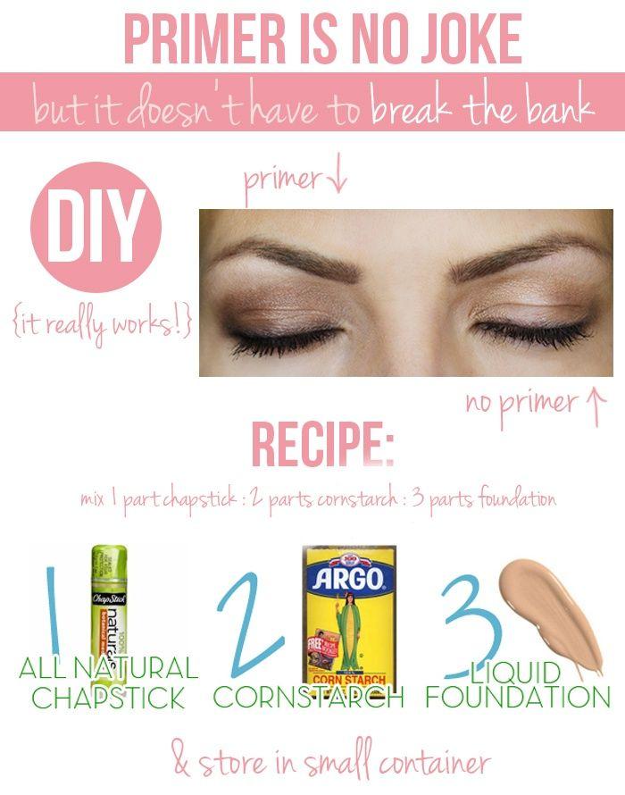 Homemade Primer So You Don T Have To Break The Bank Diy Eyeshadow Eyeshadow Primer Diy Beauty