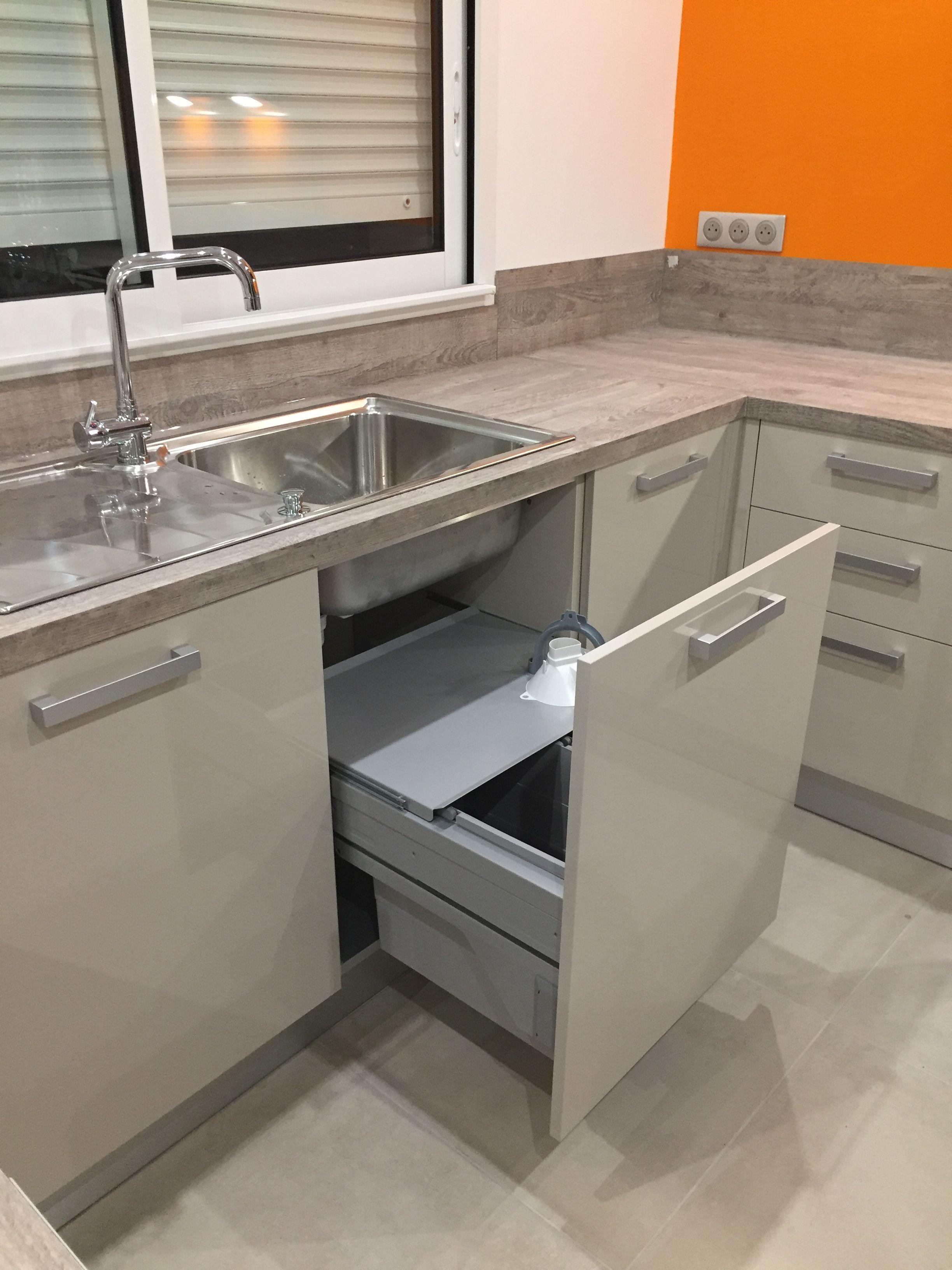 Evier Inox Avec Poubelle Coulissante En Dessous Modelos De Cozinha Cozinha Planejada Cozinha