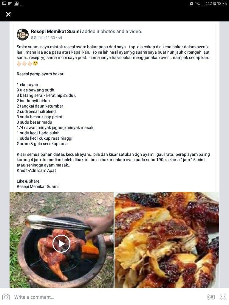 Ayam Bakar Pasu Vegetables Food Diet