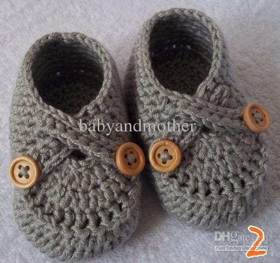 Compre Zapatos Ganchillo Del Bebé Del Bebé De Los Botines Del ...
