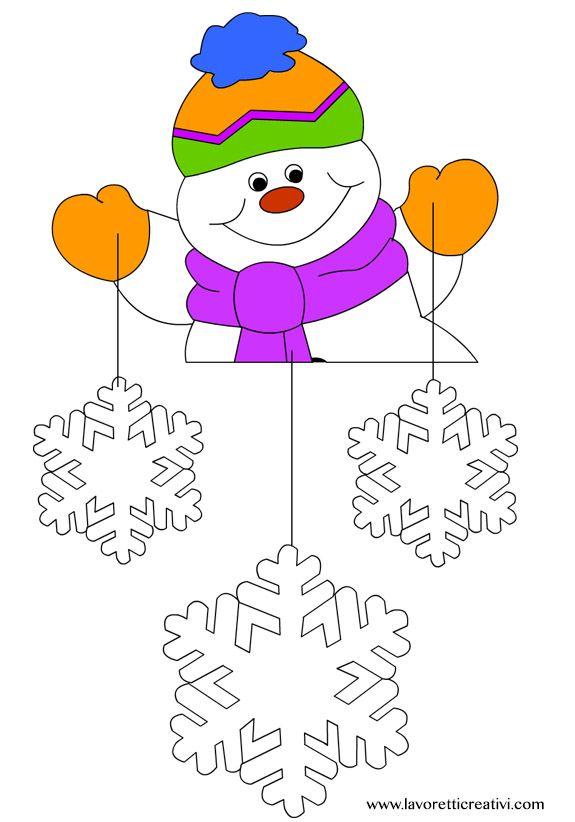 Decorazioni inverno finestra porta simbologia tempo - Finestra da colorare ...