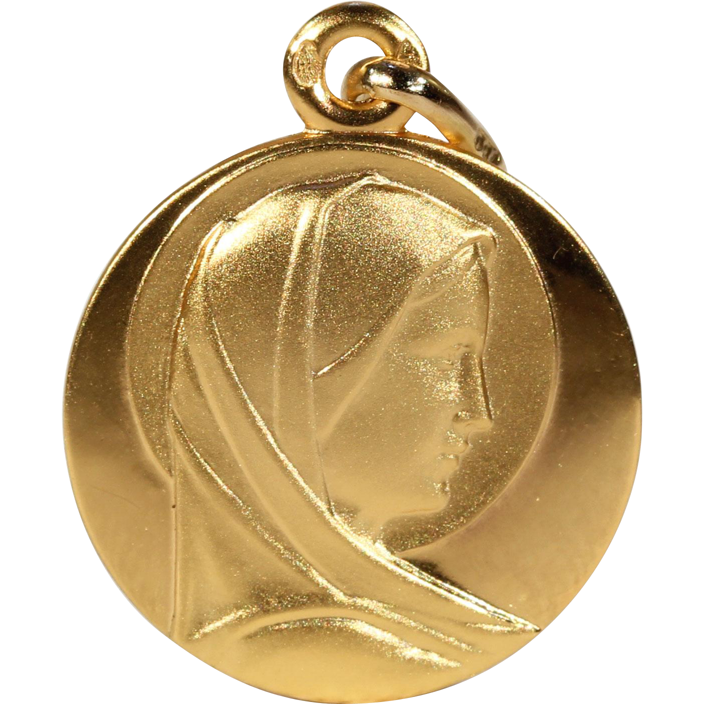 Vintage gold french st mary pendant mary pendants and gold vintage gold french st mary pendant mozeypictures Images