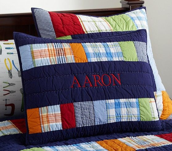 Best Aaron Quilted Bedding Pottery Barn Kids Noah S Room 400 x 300