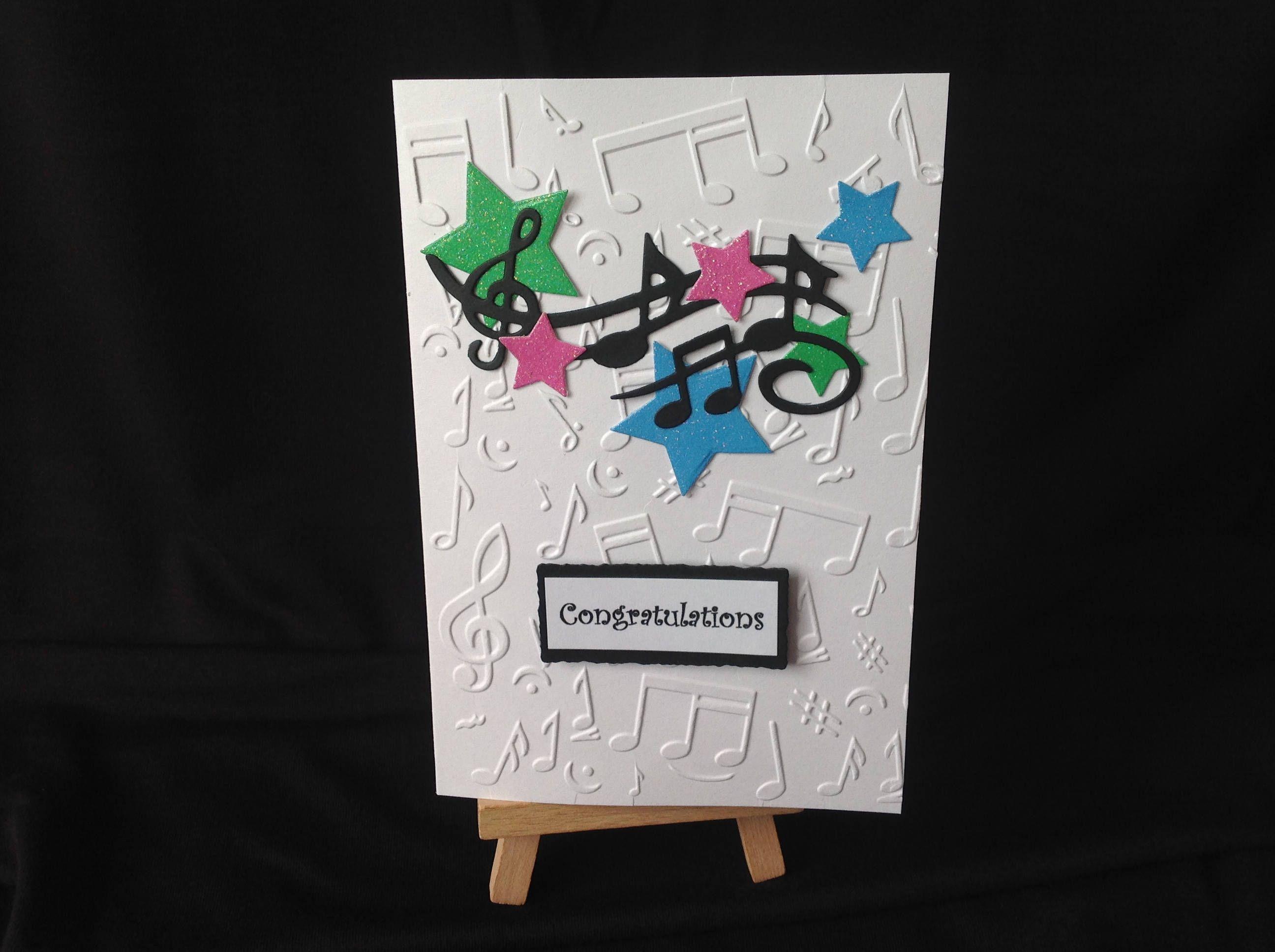 Music Exam Success Or Congratulations Card Handmade Brillante By
