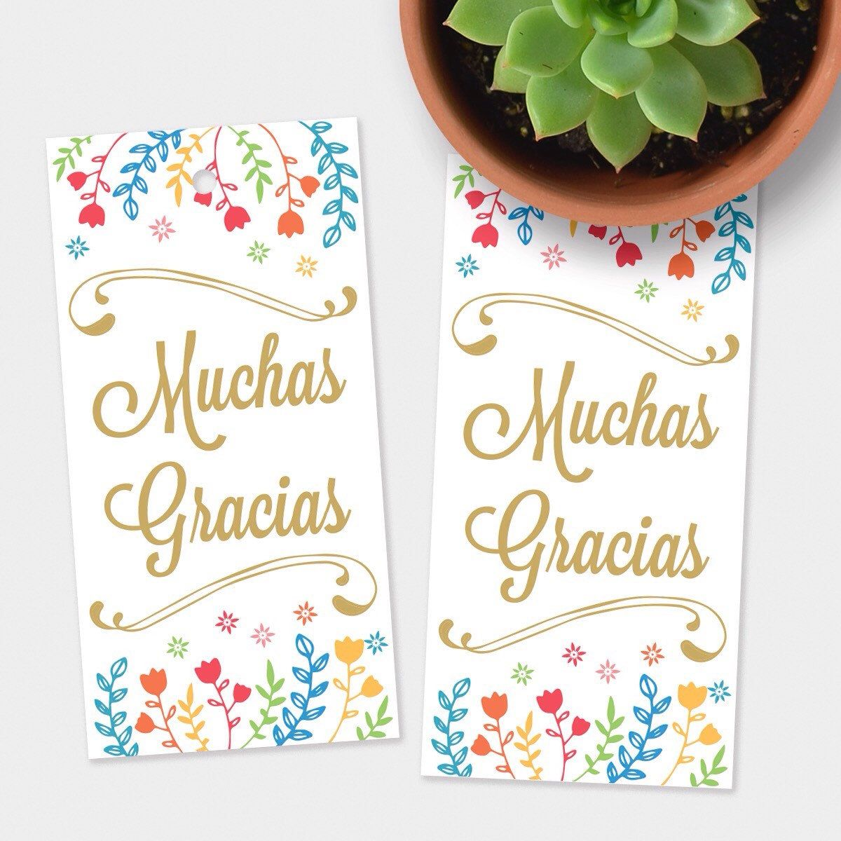 """These new """"Muchas Gracias"""" tags are so cute and perfect for summer!"""